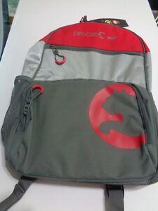 NEW Procat PUMA Red Gray Backpack Laptop Sport School Travel Bag