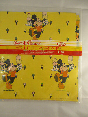 Mickey Mouse Gift Wrapping Paper (Disney Mickey Mouse Wrapping Paper Cleo Gift Wrap 1 Pack 2)
