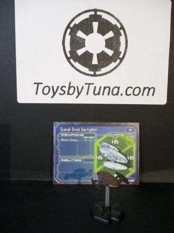 Star Wars Miniatures Starship Battles Scarab Droid Starfighter w/ Card mini RPG