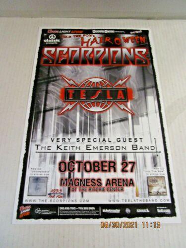 SCORPIONS & TESLA 103.5 Fox HairOWeen Magness Arena Denver 2004 SHOW POSTER VH1