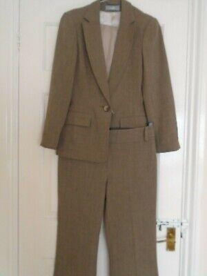 WALLIS Ladies Trouser Suit, Size 10, Camel / Brown