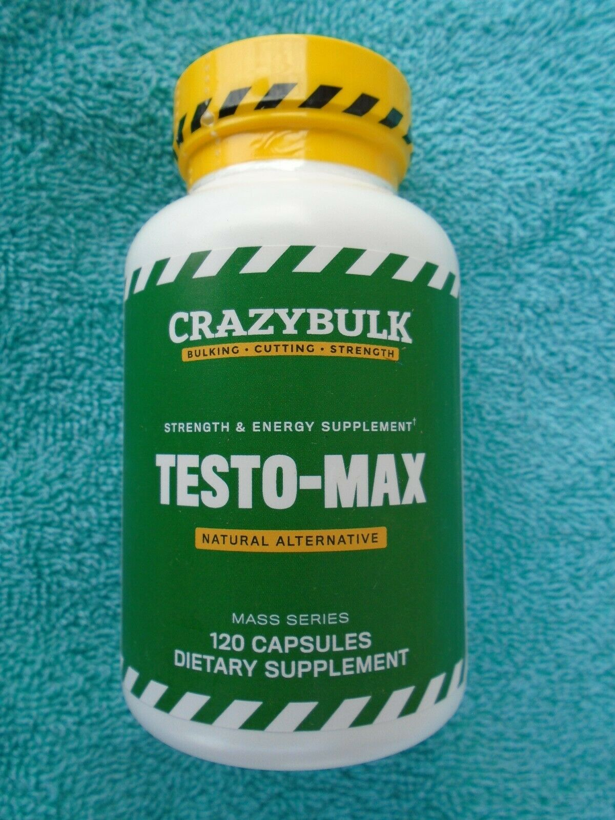TESTO-MAX All Natural STRENGTH & ENERGY Supplement 120 Caps. Brand NEW & SEALED!