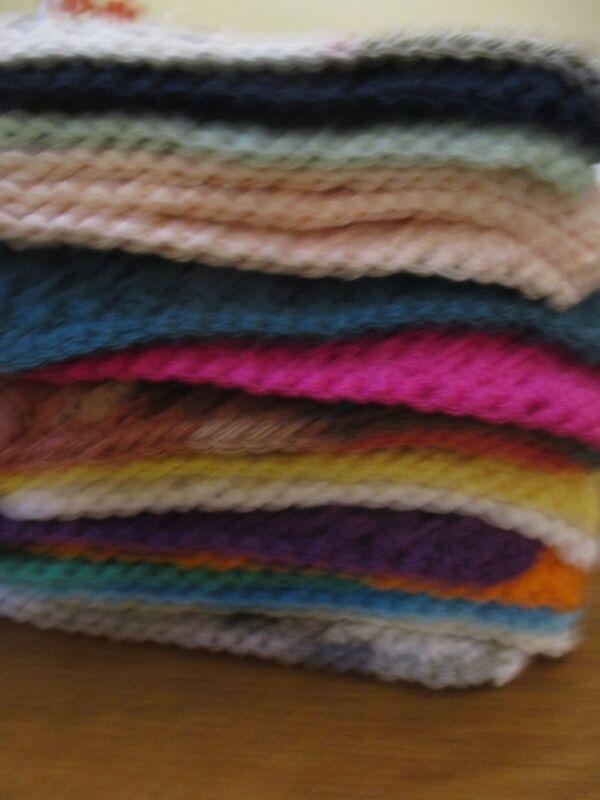Lot A , Handmade 4 crochet dishcloths, 100% cotton, colors of your choice