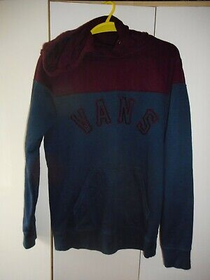 Vans Navy and Burgundy Hoodie Long Sleeve Size Small