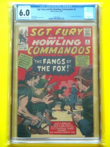 Sgt. Fury and His Howling Commandos #6 - CGC 6.0 - Battles Erwin Rommel