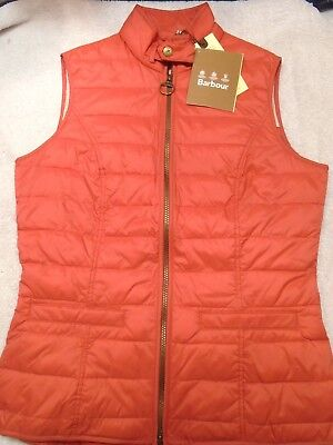 Barbour Holtsteiner Quilted Coral Red Equestrian Gilet Vest NWT US size 10 $179