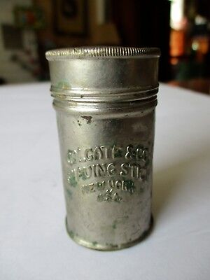 Early1920's COLGATE & Co Shaving Stick Container TIN BOX New York SCREW TOP! for sale  Shandaken