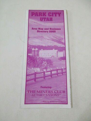 2005 Park City Utah Area Travel Road Map Business Directory Brochure~BR2
