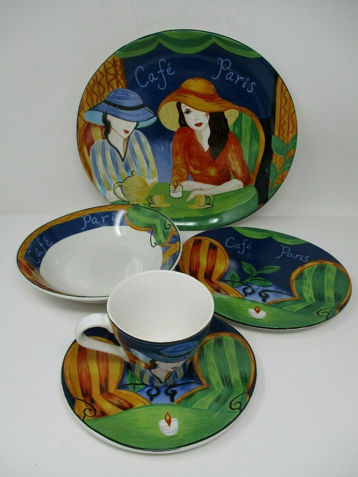 Sango Cafe Paris 5 Pc Place Setting Dish Set 4914