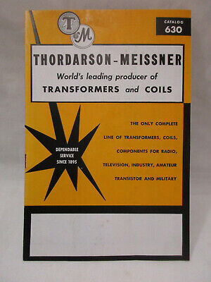 1960s Thordarson Transformer Coils Catalog And Reference Book 630