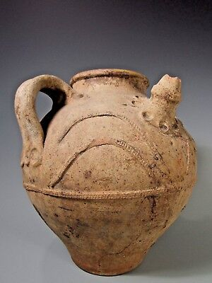 European Near Eastern partial Yellow Glaze Pottery Vessel ca. 1000 BC-1000 AD