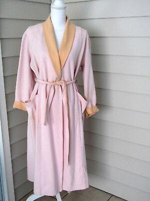Talbots Pink & Orange Cotton Blend Wrap Robe Size PS (Orange Robe)