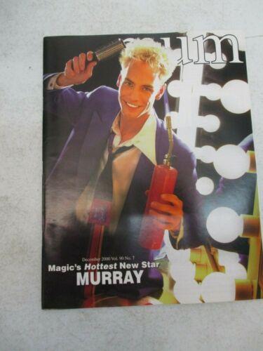 MUM MAGAZINE DECEMBER 2000 MURRAY SAWCHUCK MAGIC UNITY MIGHT MAGICIAN VINTAGE