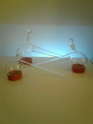 Pyrex Retort Lab Glass Sets For Alchemy And Herbalist Spagyrics And Distillation
