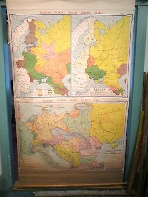 "Vintage Ca 1960 Wall Map 72""x 43""- Europe 1918-1922, Russia 1462-1914, 1914-1939"