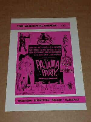 """""""Pajama Party"""" (Annette Funicello/Tommy Kirk) 1964 UK Campaign Book"""