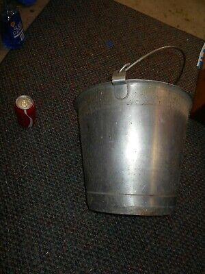 Vintage Stainless Steel Vollrath Large Bucket Milking Pailmaple Syrup Pail