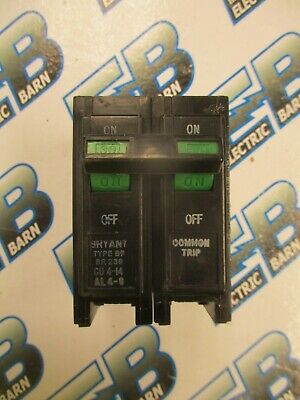 Bryant Br230 2 Pole 30 Amp 240 Volt Plug In Circuit Breaker- Warranty