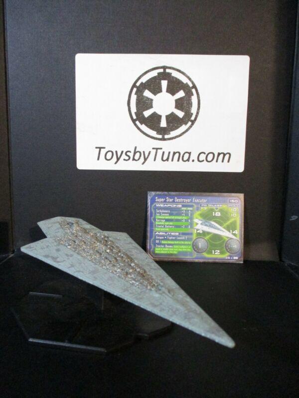 Star Wars Miniatures Starship Battles Super Star Destroyer Executor w/ Card RPG