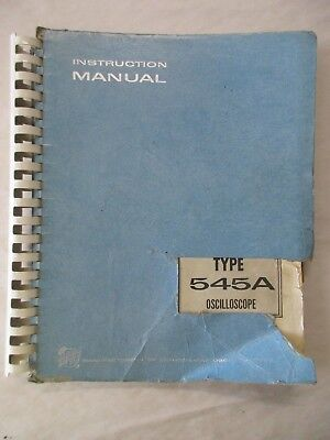 Tektronix Type 545a Oscilloscope Instruction Service Manual 070-163