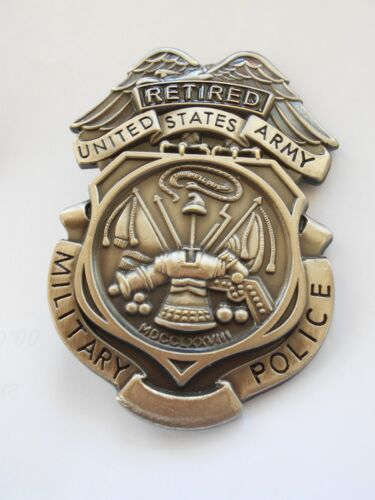 ARMY MP  RETIRED SHIELD / BADGE
