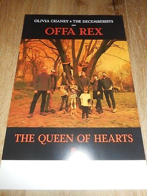 THE DECEMBERISTS - THE QUEEN OF HEARTS - ORIGINAL DOUBLE-SIDED PROMO POSTER