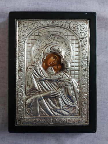 Holy Mother of God - Greek Byzantine Icon Silver 950!!!
