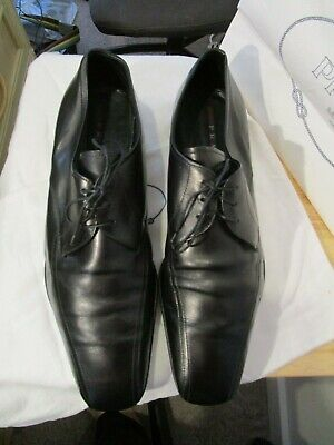 Used, PRADA UK 11  EU 45 Oxford Black  Lace Up Leather shoes RRP £570.00 for sale  Shipping to Nigeria
