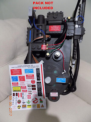 Ghostbusters Proton Pack ( Spirit Halloween Deluxe Replica ) up grade Stickers