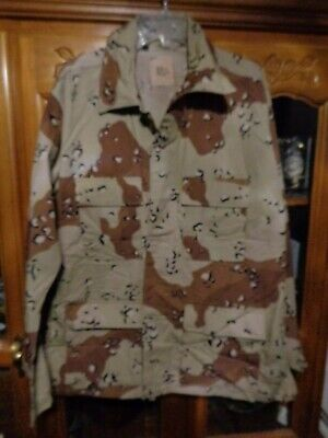 US ARMY USMC DESERT STORM 6-COLOR DCU SHIRT LARGE REGULAR  NEW WITH OUT TAG 1990