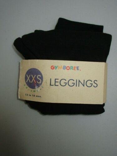 Gymboree Vintage XXS 12-18 Month Black Leggings NWT
