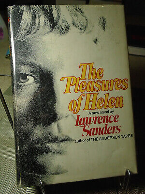 Lawrence Sanders, The Pleasures of Helen, Signed, 1st Edition, 1st Printing