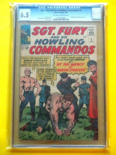 Sgt. Fury and His Howling Commandos #5 - CGC 6.5 - 1st App Baron Strucker