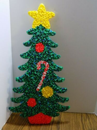 Vintage Melted Popcorn Plastic Decor Christmas Tree