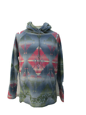 Mens Chaps Ralph Lauren Aztec Hoodie Thermal Shirt Large