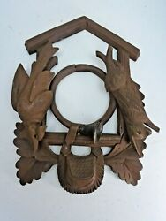 Wooden Frame for a Hunter Style Cuckoo Clock  7 1/2 Wide by 10 1/2 Long