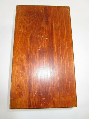 Vtg Wayne Novelty Large Wood Index Card File Catalog Box Dovetail April 1970