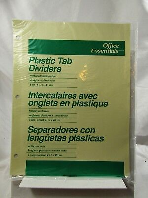 9 Tabsoffice Essentials Economy Insertable Tab Dividers