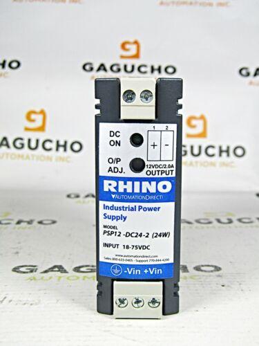 RHINO PSP12-DC24-2 (24W) DC to DC Converter Input 18-75VDC