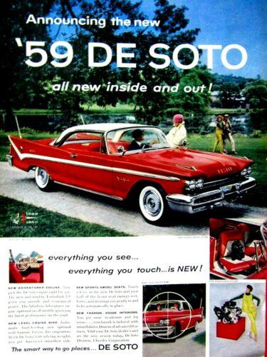 """1959 De Soto Adventurer Here Comes The All New Original Print Ad 8.5 x 11"""""""