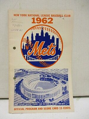 1962 New York Mets Vs St Louis Cardinals Scorecard with Ticket (2)