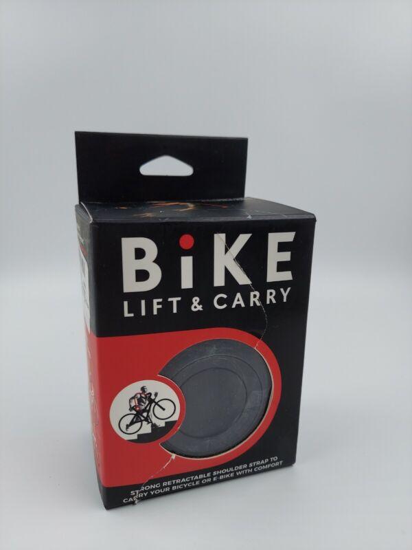 Bike Lift & Carry: Strong Retractable Shoulder-Carrying Strap black 1pk