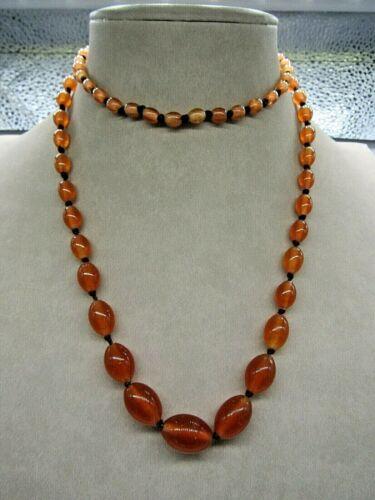 Vintage Carnelian Gemstone Necklace