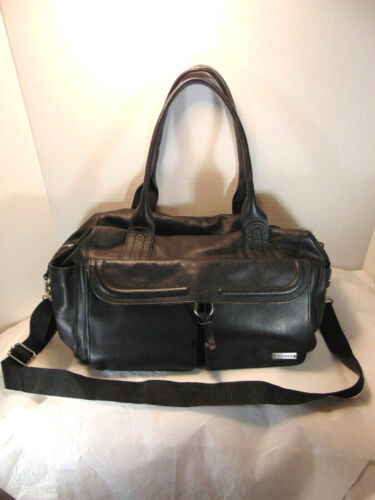 Storksak Charlotte Leather Diaper Nappy Bag ORG COST $335.00