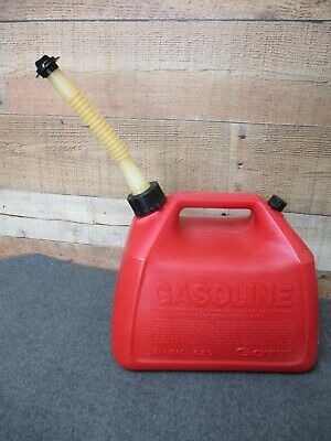 Gott 2-12 Gal Plastic Gas Fuel Can Old Style Spout W Screen End Cap