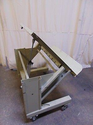 Pneumatic Air Tilt Steel Work Platform Table 36 X 30 45 Degree Tip