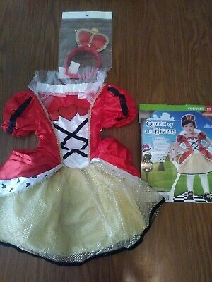 Queen of all Hearts Costume - Princess - Size 2 T - Adorable - Play Dress -Up
