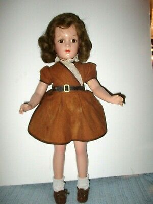 "1930's  Arranbee R & B  17"" Debuteen Composition Toddler doll in Original Outfit"
