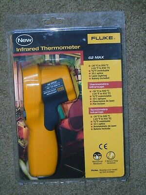 Fluke 62 Max Infrared Thermometer 30 To 500 C 101 Spot Size Ratio Brand New