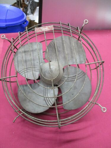 """Vintage 12"""" Blade Dominion Electric Corp Fan 2019 -For Parts or Repair-Untested"""